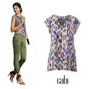 Cabi Plume Feather Blouse 5027